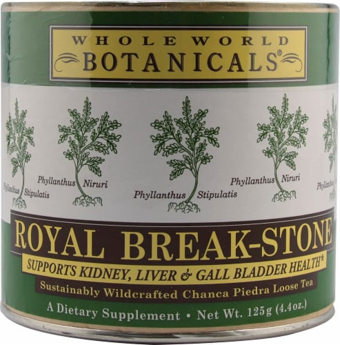 Whole World Botanicals  Royal Break Stone Tea Wildcrafted Chanca Piedra Perspective: front