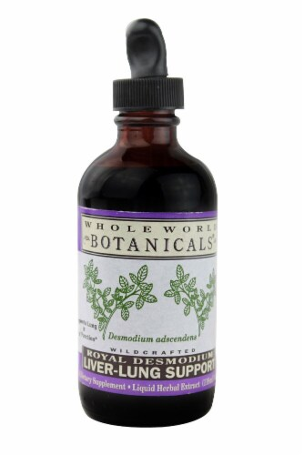 Whole World Botanicals  Liver Lung Support Royal Desmodium Perspective: front