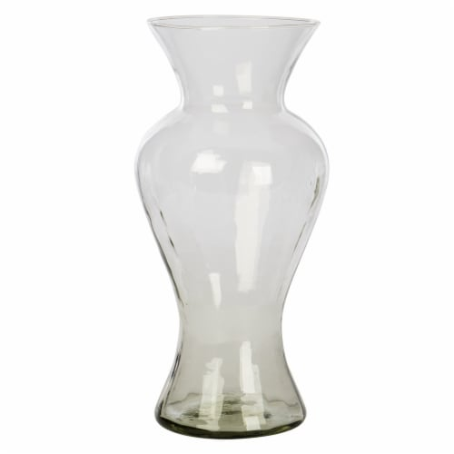 CBK Avery Mansfield Optical Glass Vase - Clear Perspective: front