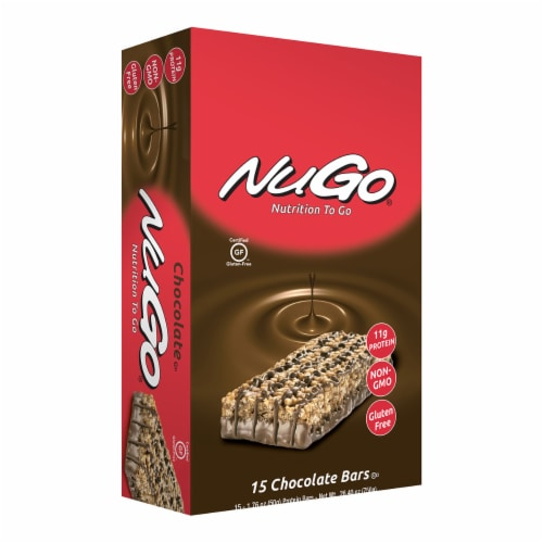 NuGo Nutrition  To Go Bars   Chocolate Perspective: front