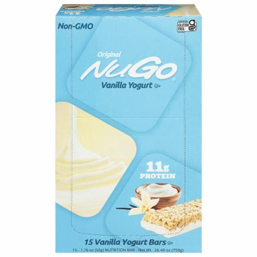 NuGo Nutrition Vanilla Yogurt To Go Bars Perspective: front