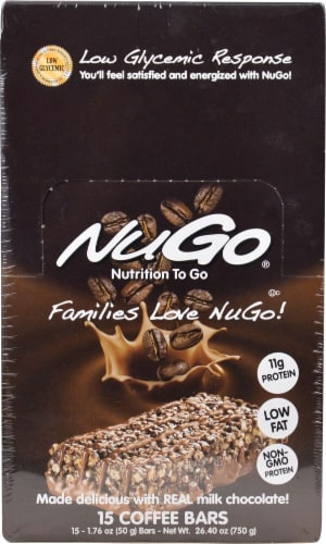NuGo Nutrition  To Go Bars   Coffee Perspective: front