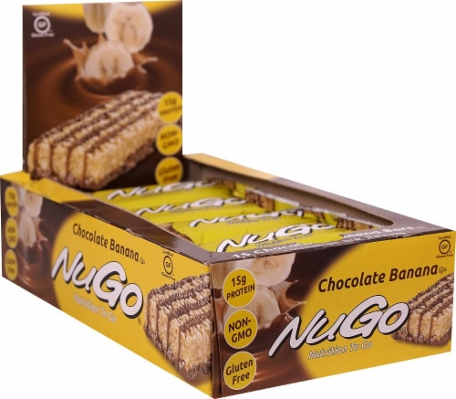 NuGo Nutrition Chocolate Banana To Go Bars Perspective: front