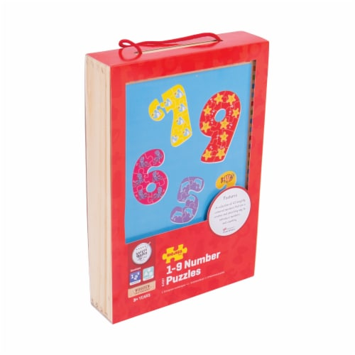 Bigjigs Toys 1-9 Number Puzzles Perspective: front