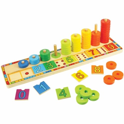 Bigjigs Toys BJT531 Learn to Count Toy Perspective: front