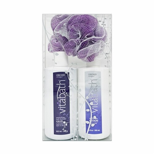 Vitabath Orchid Everyday Bath Set Perspective: front