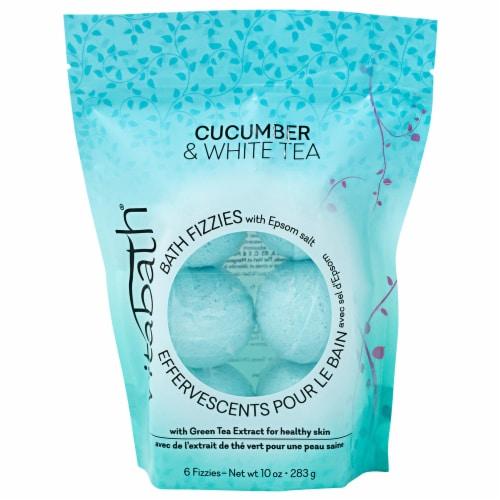 Vitabath Cucumber & White Tea Bath Fizzies Perspective: front