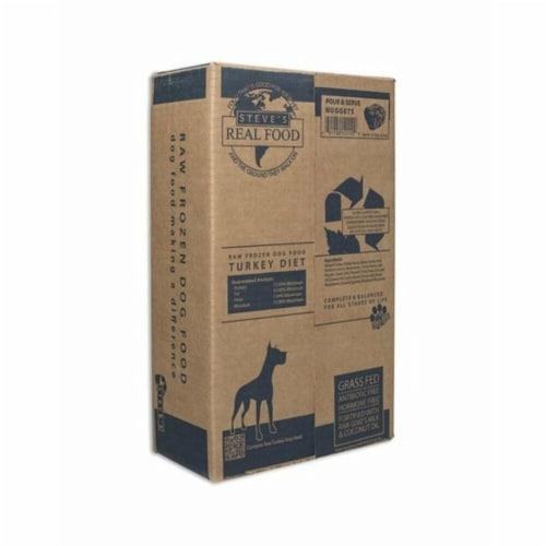 Steves 84517003 20 lbs Real Food Frozen Dog & Cat Patties Turkey Perspective: front
