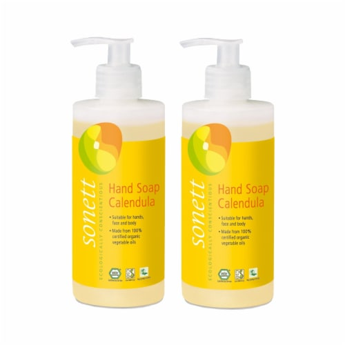 Sonett Organic Hand Soap Calendula Liquid Body Care Suitable For Hands ( Pack of 2 ) Perspective: front
