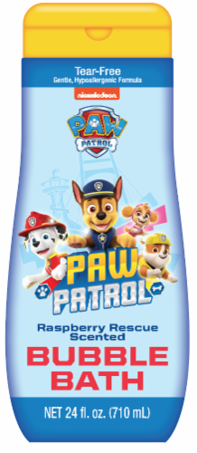 Paw Patrol Raspberry Scented Bubble Bath Perspective: front