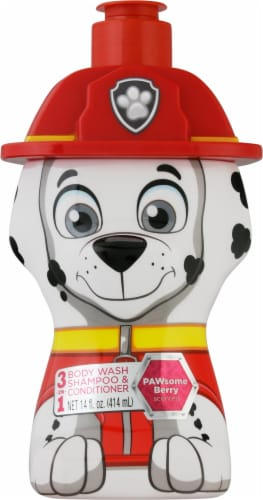 Nickelodeon Paw Patrol Pawsome Berry Scented 3-in-1 Body Wash Shampoo and Conditioner Perspective: front