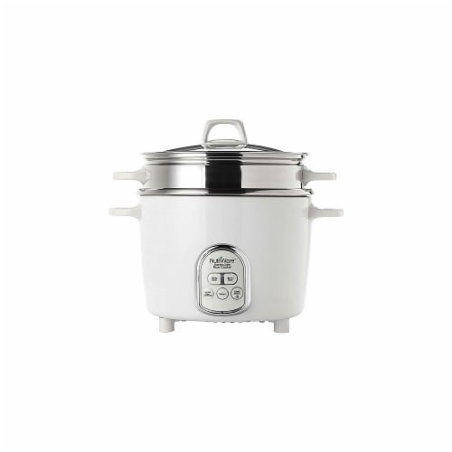 Aroma 14-Cup Rice Cooker & Food Steamer, White Perspective: front