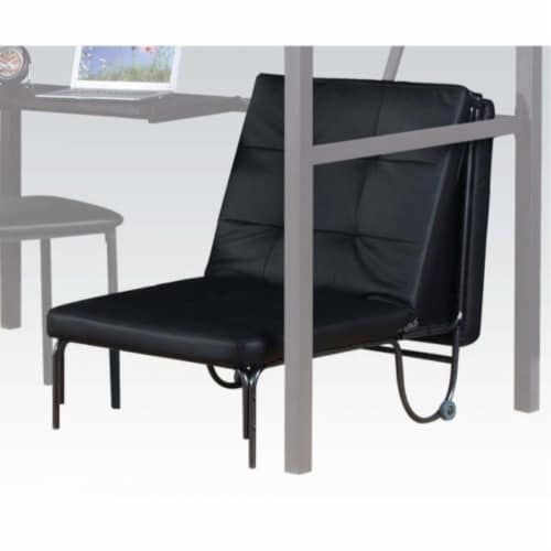 Ergode Adjustable Chair (Futon) Silver & Black Perspective: front