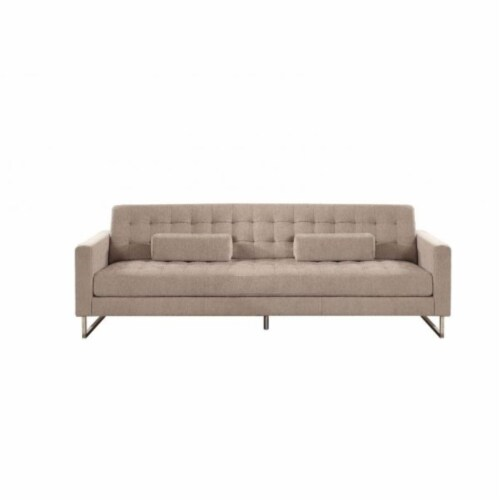 Ergode Sofa (w/ Pillows) Beige Fabric Perspective: front