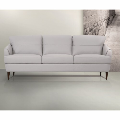 Ergode Sofa Pearl Gray Leather Perspective: front