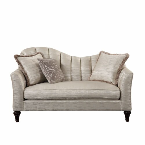 Ergode Loveseat w/3 Pillows Shimmering Pearl Perspective: front