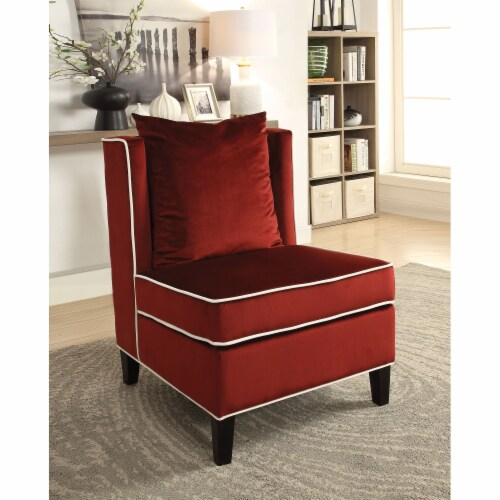 Ergode Accent Chair Red Velvet Perspective: front