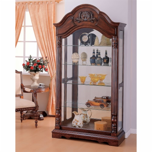 Ergode Curio Cabinet Cherry Perspective: front