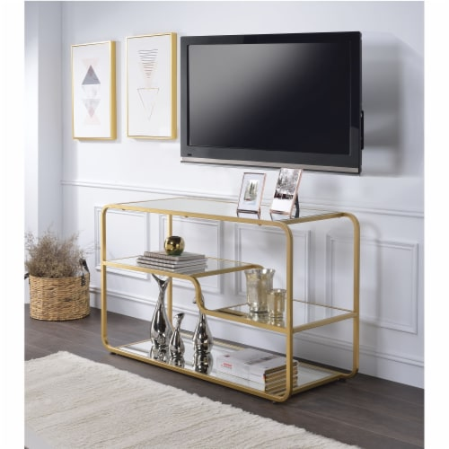 Ergode TV Stand Gold & Mirror Perspective: front