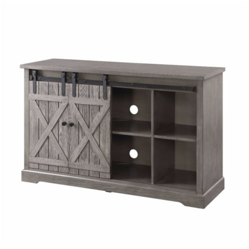 Ergode TV Stand Gray Oak Perspective: front