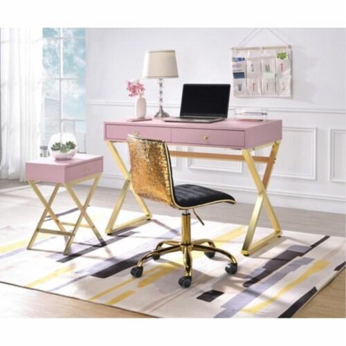 Ergode Desk Pink & Gold Perspective: front