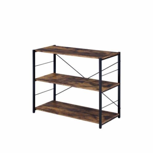 Ergode Bookshelf Weathered Oak & Black Finish Perspective: front