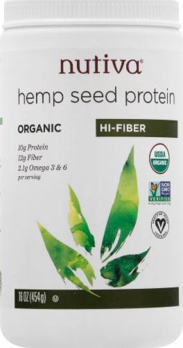 Nutiva Organic Superfood Hi-Fiber Hemp Protein Perspective: front
