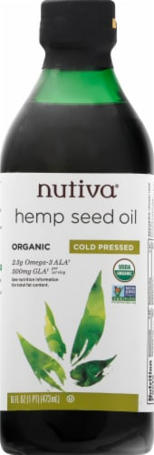 Nutiva Hempseed Oil Perspective: front