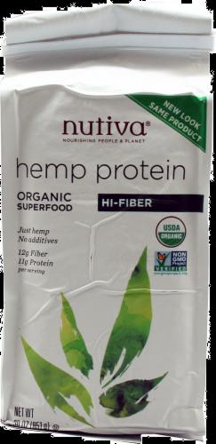 Nutiva Hemp Protein Hi Fiber Perspective: front