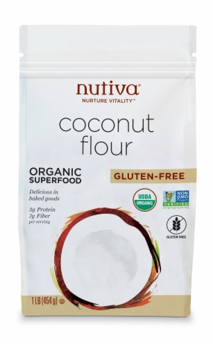 Nutiva Organic Coconut Flour Perspective: front