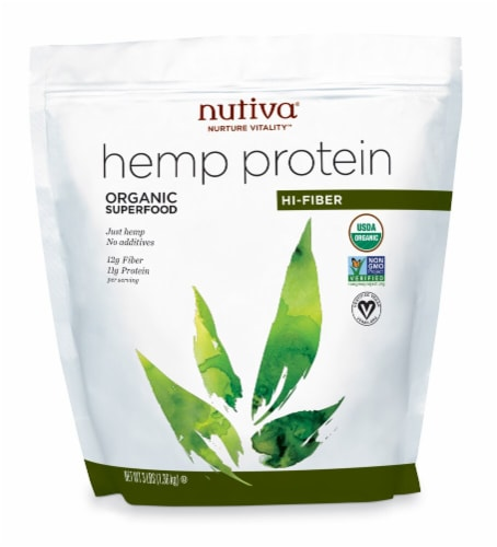 Nutiva  Organic Hemp Protein Hi-Fiber Perspective: front