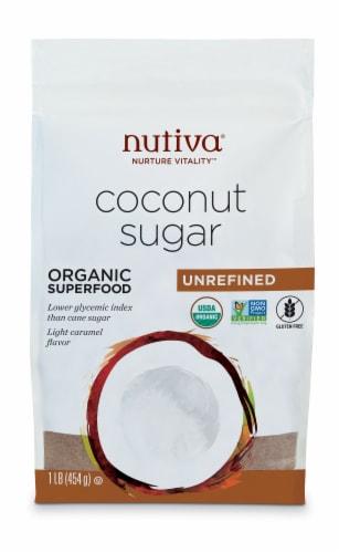 Nutiva Organic Unrefined Coconut Sugar Perspective: front