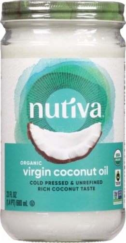 Nutiva Organic Virgin Coconut Oil Perspective: front