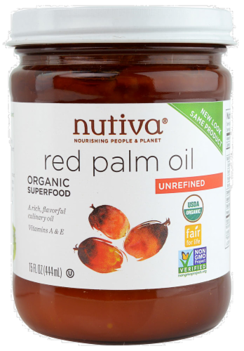 Nutiva Unrefined Red Palm Oil Perspective: front