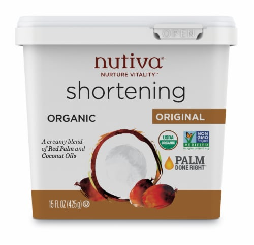 Nutiva Coconut Shortening Perspective: front