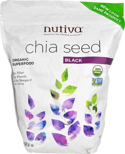 Nutiva  Organic Chia Seed Black Perspective: front