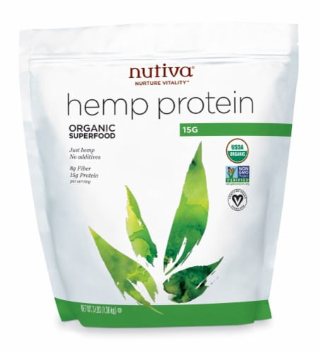 Nutiva  Organic Hemp Protein Perspective: front