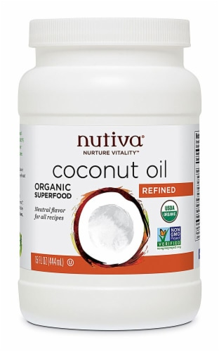 Nutiva  Organic Coconut Oil Refined Perspective: front