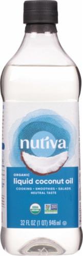 Nutiva  Organic Liquid Coconut Oil   Classic Perspective: front