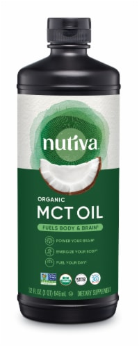 Nutiva  Organic MCT oil from Coconut   Unflavored Perspective: front
