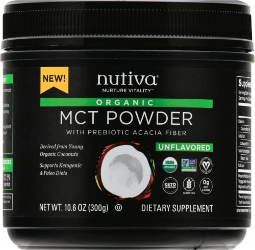 Nutiva Organic MCT Powder with Prebiotic Acacia Fiber Perspective: front