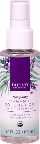 Nutiva Tranquility with Lavender Organic Coconut Oil Perspective: front