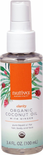 Nutiva Clarity with Ginger Organic Coconut Oil Perspective: front