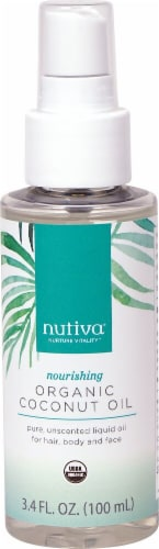 Nutiva Nourishing Unscented Organic Coconut Oil Perspective: front
