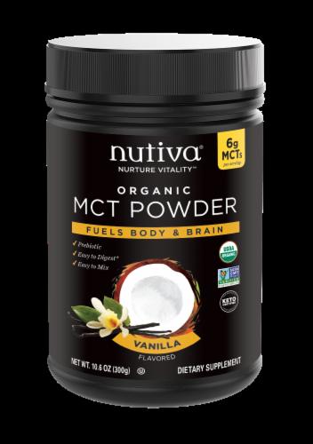 Nutiva MCT Powder with Prebiotic Acacia Fiber - Vanilla Perspective: front