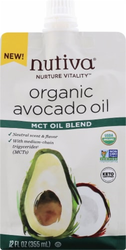 Nutiva MCT Oil Blend Organic Avocado Oil Perspective: front
