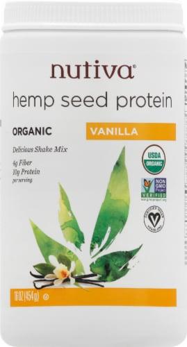 Nutiva Organic Vanilla Hemp Seed Protein Powder Perspective: front