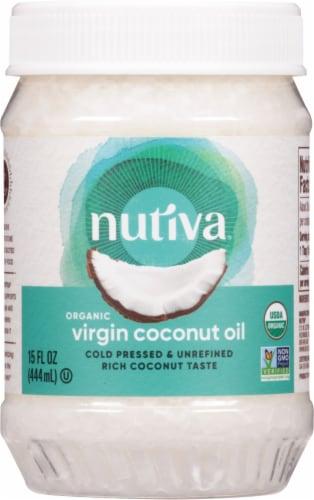 Nutiva Organic Coconut Oil Perspective: front