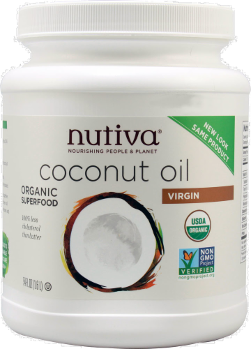 Nutiva Organic Virgin Coconut Oil Perspective: front