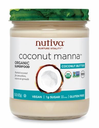 Nutiva Organic Coconut Manna Perspective: front